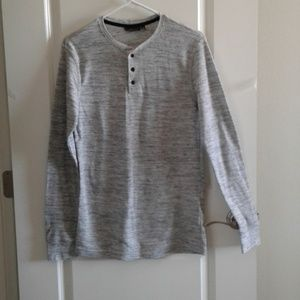 Marc Anthony Henley Shirt sz L Slim Fit